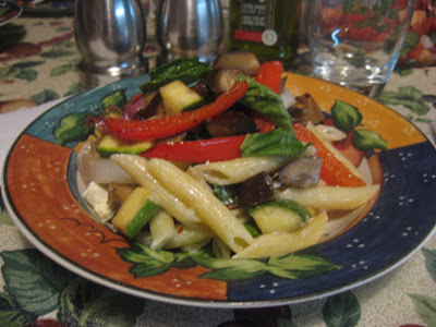 Penne with Roasted Vegetables and Ricotta