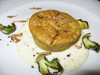 Cooking in Spoleto: Artichoke Flan in Truffle Sauce
