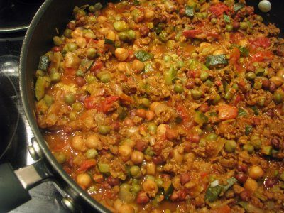 Vegetarian Chickpea Chili for the Fiesta!