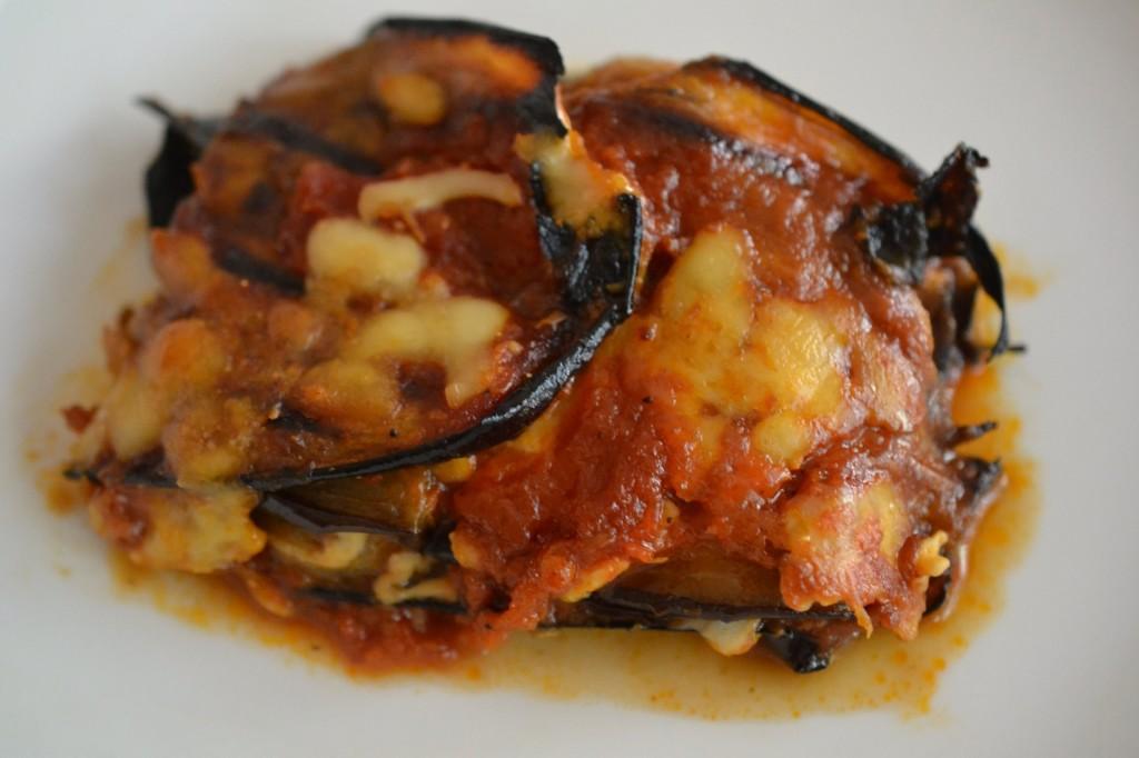 Grilled eggplant parmigiana
