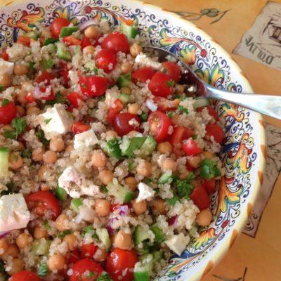 Chickpea Feta Quinoa Summer Salad Recipe