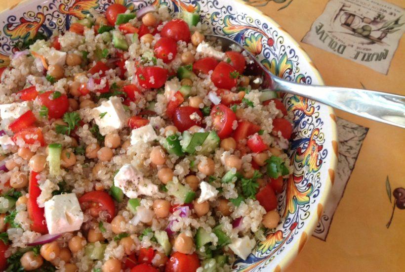 Chickpea Feta Cheese Quinoa Salad