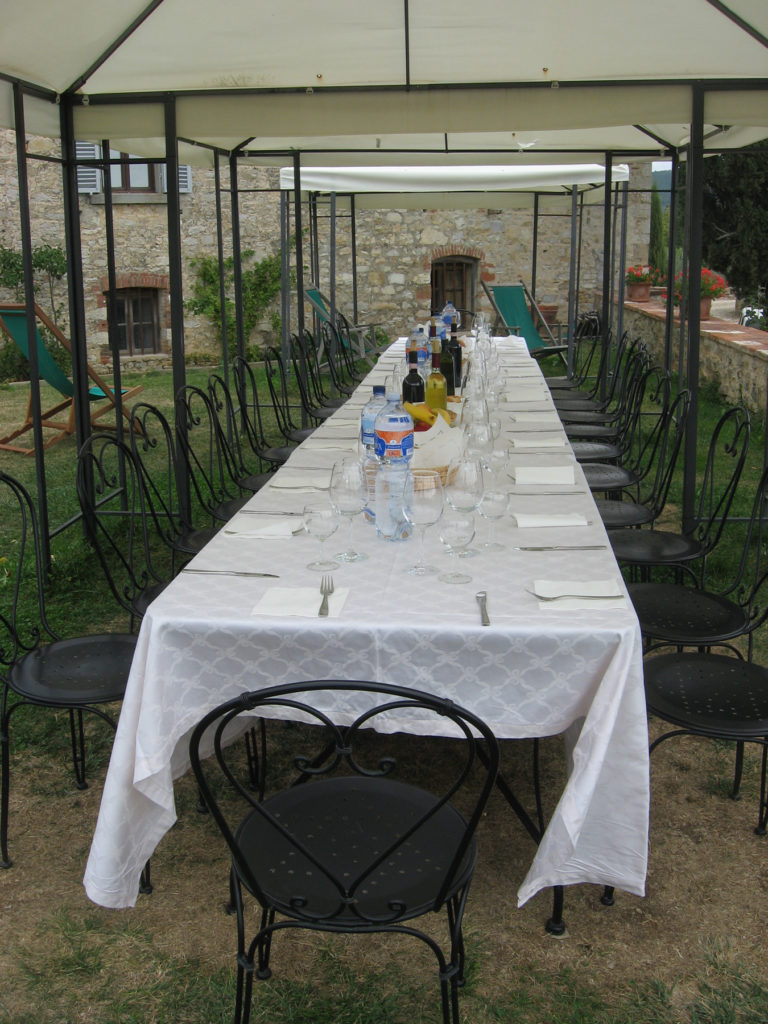 Dining al fresco at Castello Meleto