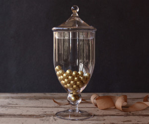 Minted Trophy Apothecary Jar
