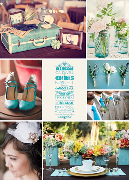 Minted wedding inspiration board