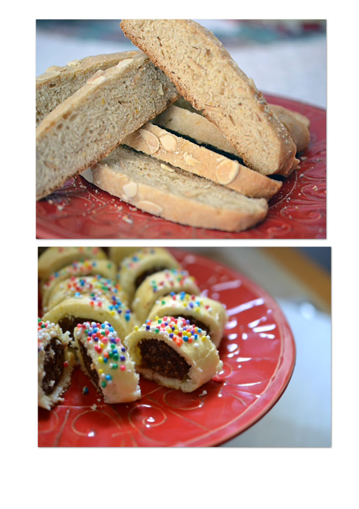 Honey Spiced Biscotti and Siciian Fig cookies