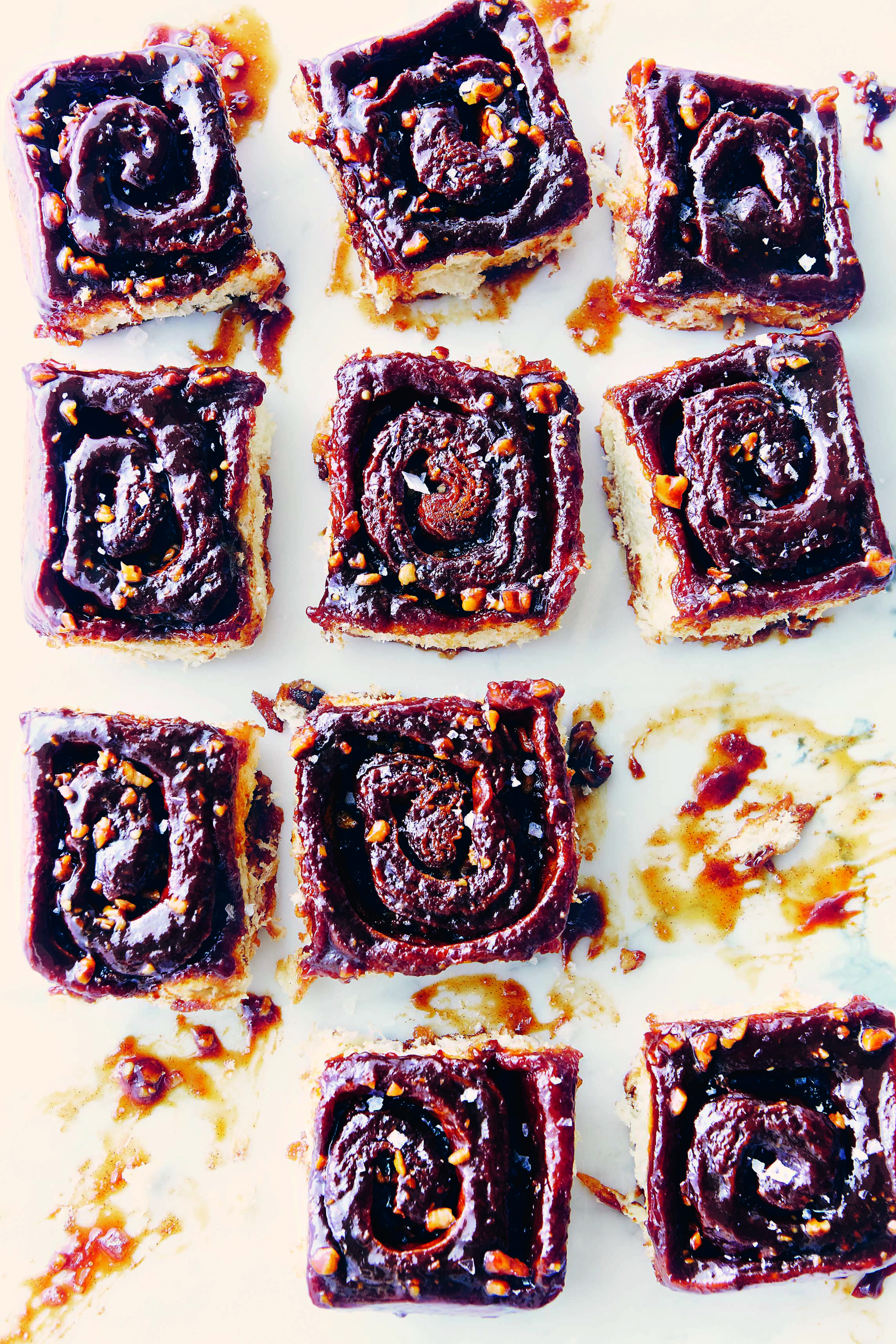 Burnt Caramel and Sea Salt Sticky Buns from The Messy Baker cookbook
