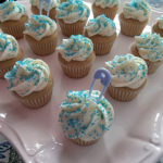 Vanilla mini-cupcakes for a #BabyFamilyBites Virtual Baby Shower