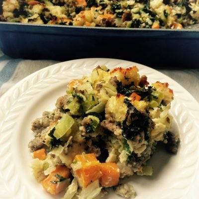 Italian Style Sausage, Kale and Butternut Squash Stuffing