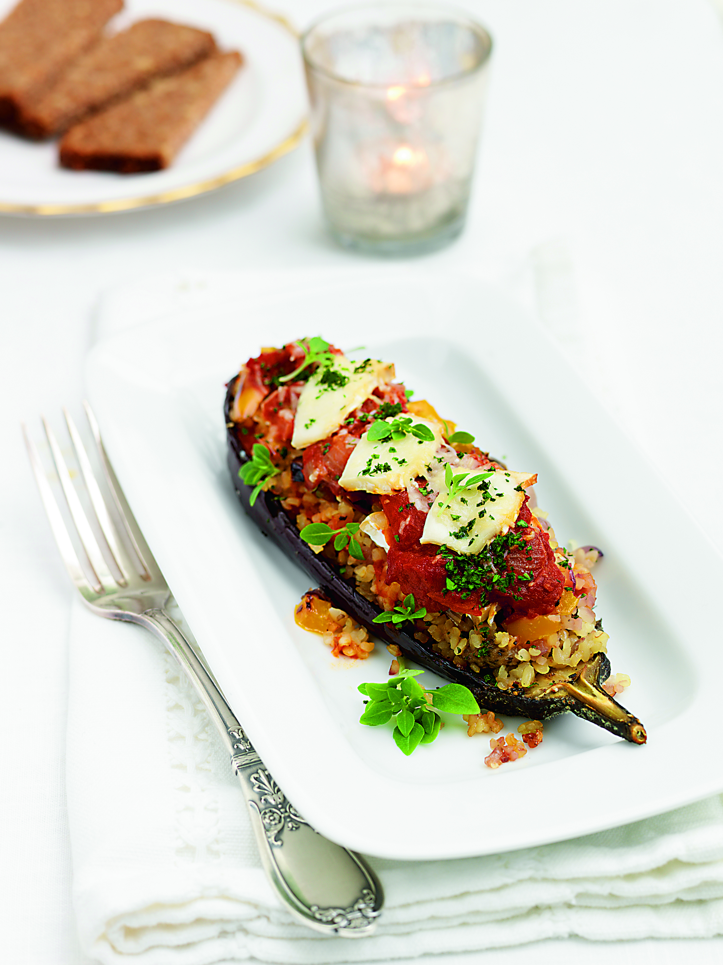 The Royal Touch Cookbook Aubergine Stack