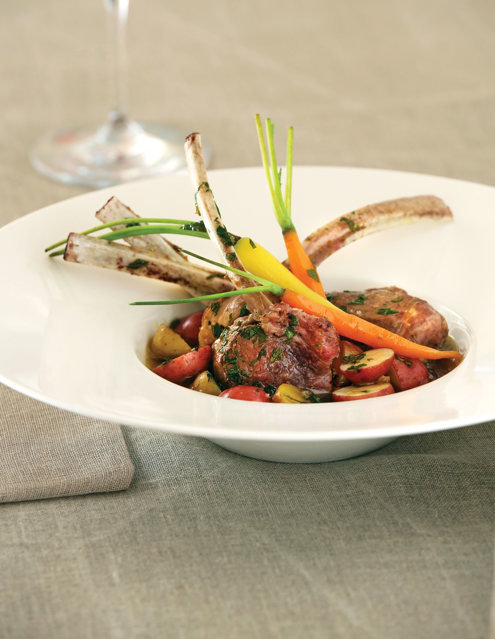 Grilled Lamb Chops from Monet's Palate Cookbook