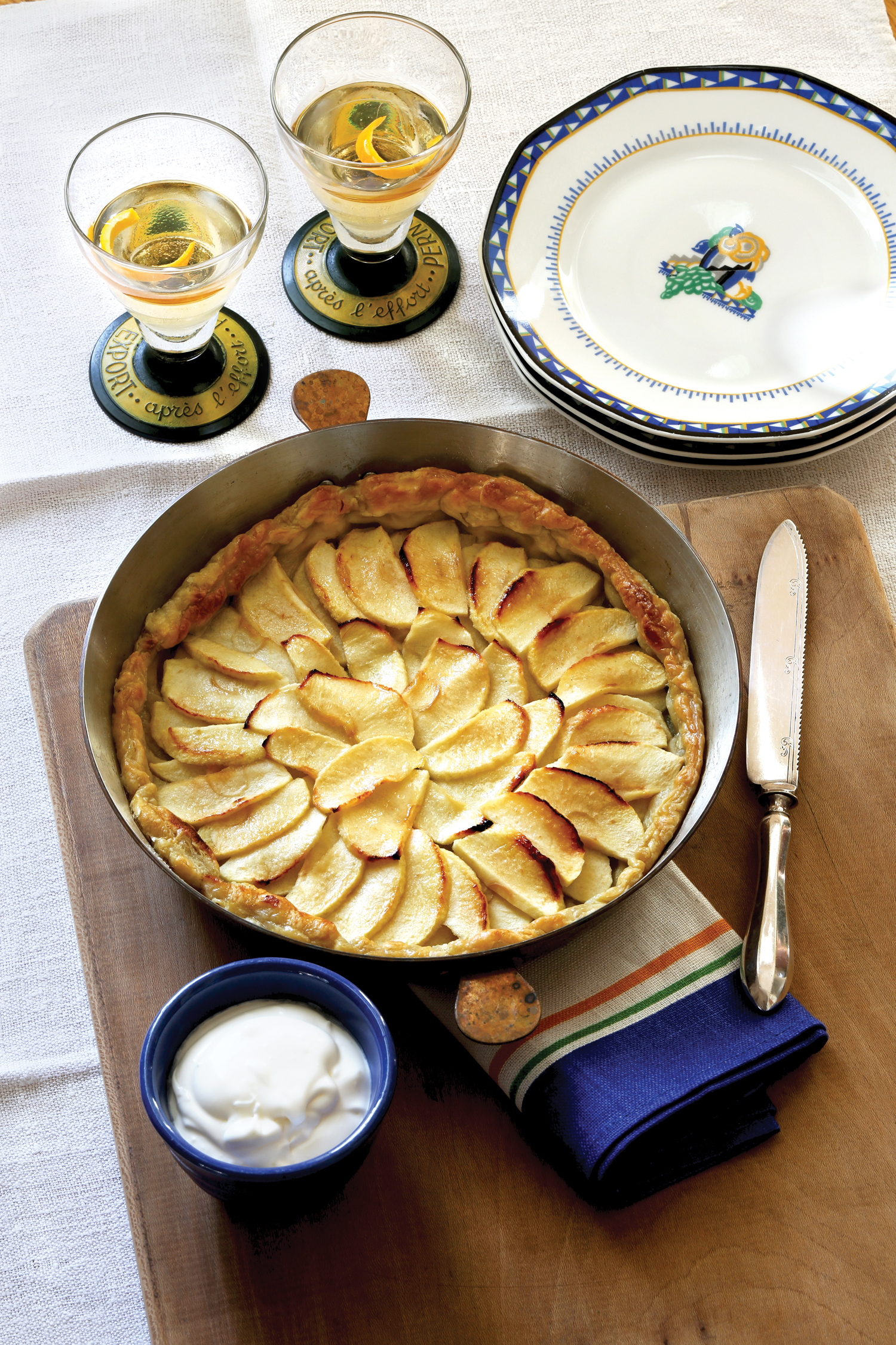 Normandy French Apple Tart from Monet's Palate Cookbook