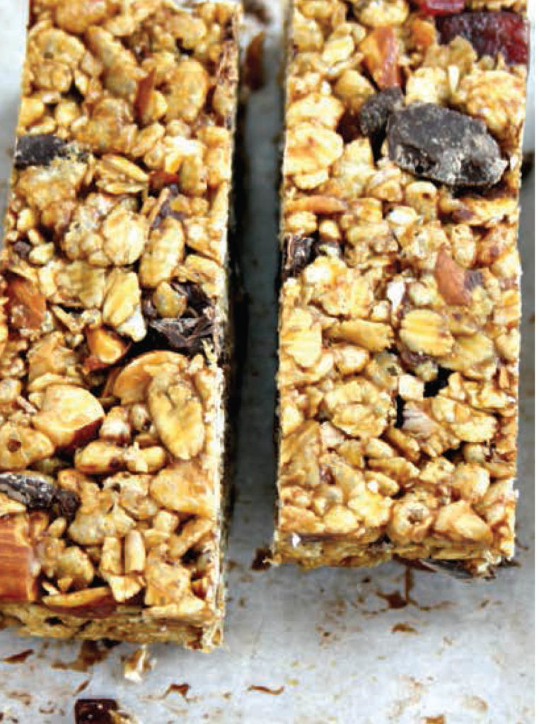 No Fuss Crispy Almond Granola Bars